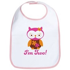 I'm Two Retro Owl Bib