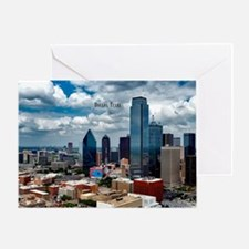 Cute Dallas skyline Greeting Card