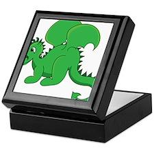 Cute Green Baby Dragon Keepsake Box