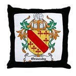 Ormesby Coat of Arms Throw Pillow