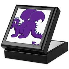 Baby Dragon Clipart in Purple Keepsake Box