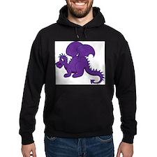 Baby Dragon Clipart in Purple Hoody