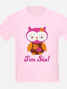 I'm Six Retro Owl T-Shirt