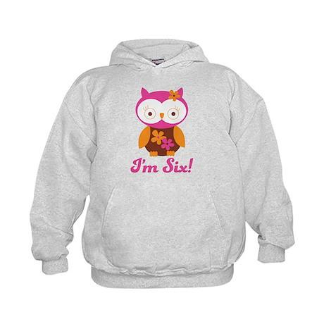 I'm Six Retro Owl Kids Hoodie