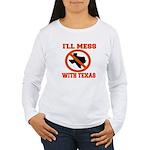 messtexaswhite.png Women's Long Sleeve T-Shirt