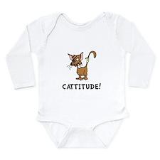 Cattitude Long Sleeve Infant Bodysuit