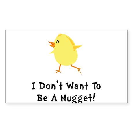 Chicken Nugget Sticker (Rectangle)