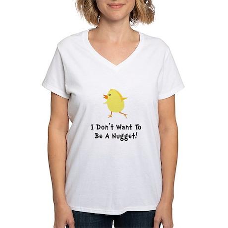 Chicken Nugget Women's V-Neck T-Shirt