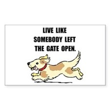 Dog Gate Open Decal