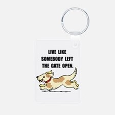 Dog Gate Open Keychains
