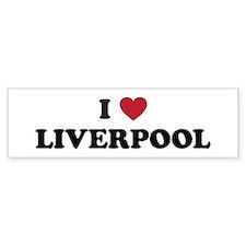 I Love Liverpool Bumper Sticker