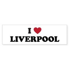 I Love Liverpool Car Sticker