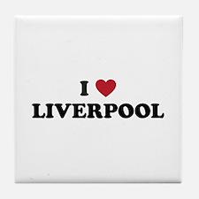 I Love Liverpool Tile Coaster