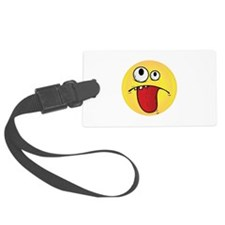 Goofy Smiley Face Luggage Tag