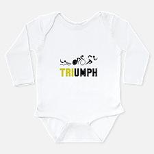 Tri Triumph Long Sleeve Infant Bodysuit
