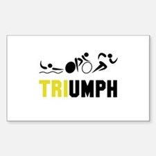 Tri Triumph Sticker (Rectangle)