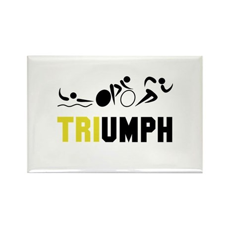 Tri Triumph Rectangle Magnet