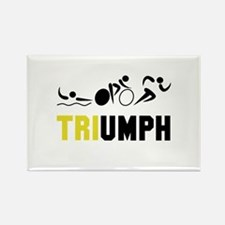 Tri Triumph Rectangle Magnet