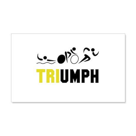 Tri Triumph 20x12 Wall Decal