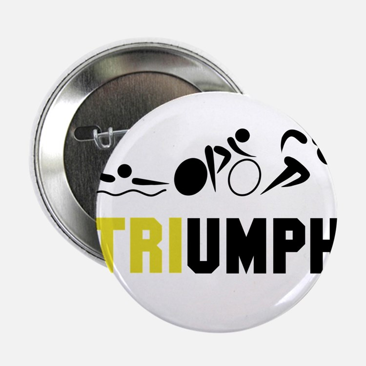"""Tri Triumph 2.25"""" Button"""