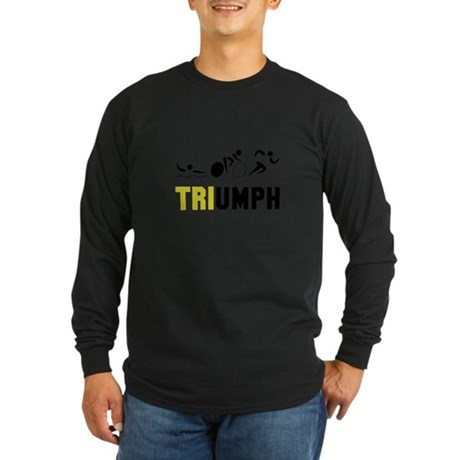 Tri Triumph Long Sleeve Dark T-Shirt