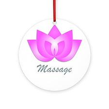 Massage Lotus Flower Ornament (Round)