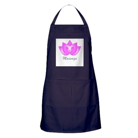 Massage Lotus Flower Apron (dark)