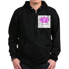 Massage Lotus Flower Zip Hoodie