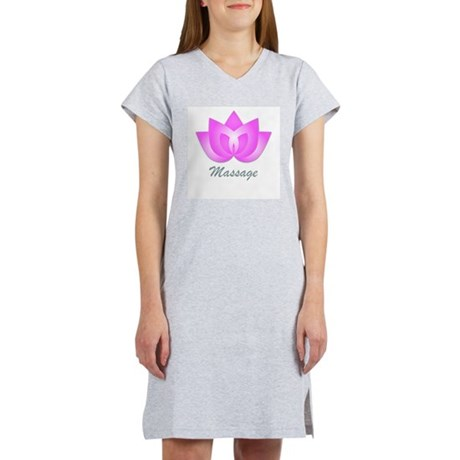 Massage Lotus Flower Women's Nightshirt