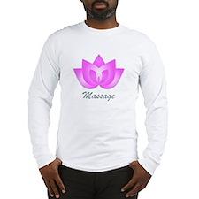 Massage Lotus Flower Long Sleeve T-Shirt