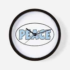 Unique Euro Oval Peace Wall Clock