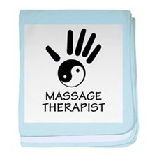 Yin-Yang Massage Hand baby blanket