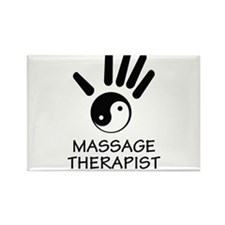Yin-Yang Massage Hand Rectangle Magnet