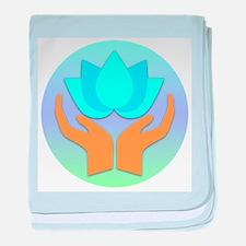Lotus Flower - Healing Hands baby blanket