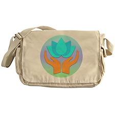 Lotus Flower - Healing Hands Messenger Bag