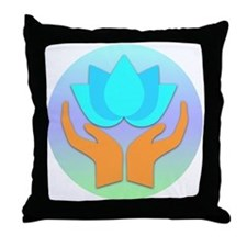 Lotus Flower - Healing Hands Throw Pillow