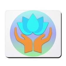 Lotus Flower - Healing Hands Mousepad