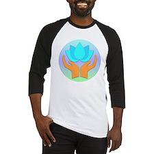 Lotus Flower - Healing Hands Baseball Jersey