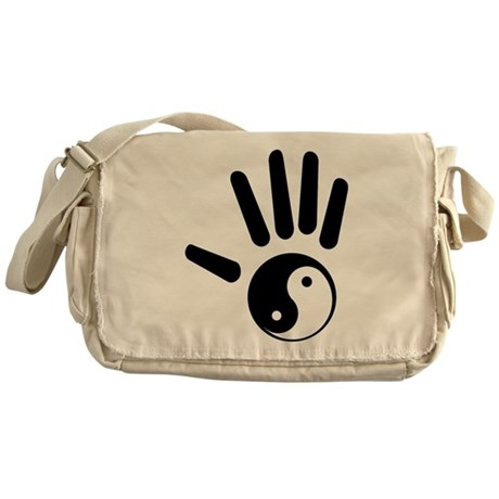 Yin-Yang Hand Messenger Bag