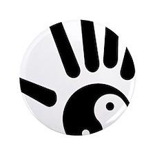 "Yin-Yang Hand 3.5"" Button"