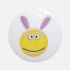 Rabbit Smiley Face Ornament (Round)