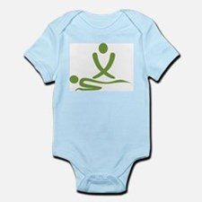 Green massage design Infant Bodysuit