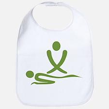 Green massage design Bib