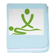 Green massage design baby blanket