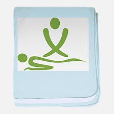 Green massage design baby blanket