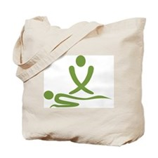 Green massage design Tote Bag