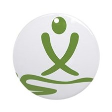 Green massage design Ornament (Round)