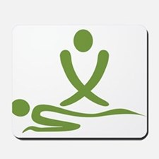 Green massage design Mousepad
