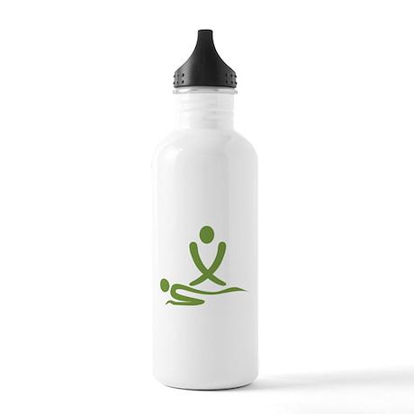 Green massage design Stainless Water Bottle 1.0L