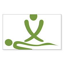 Green massage design Decal